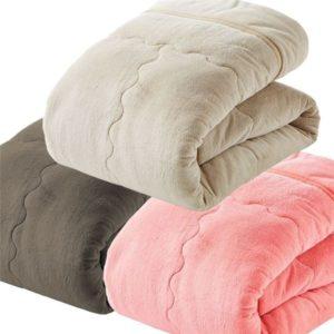 ぬくぬく快適 あったか5層構造カラー毛布で朝までポカポカぐっすり♪