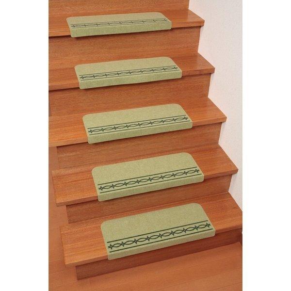 【おくだけ吸着 コーナー付階段マット】階段の上り下りも安心に!
